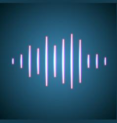 Nightlife styled glowing neon music wave vector
