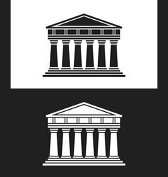 Parthenon architecture greek temple icon vector
