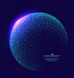 particles constructed the world globe vector image