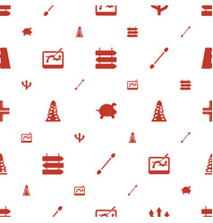 Path icons pattern seamless white background vector