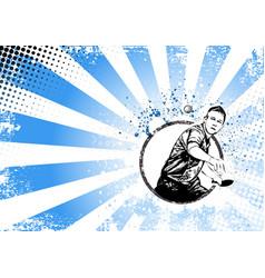 ping pong poster vector image