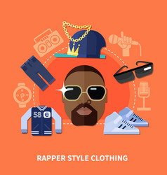 rapper style clothing composition vector image