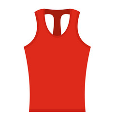 Red sleeveless shirt icon isolated vector