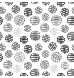 repeating abstract grey circles figure with lines vector image