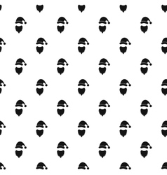 Santa Claus pattern simple style vector image