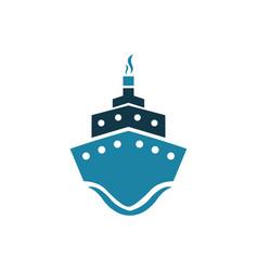Sea ship logo vector