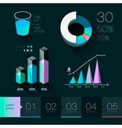 set elements info graphics vector image