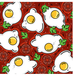 Shakshuka pattern eggs and more vector