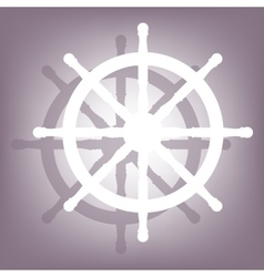 Ship wheel icon with shadow vector