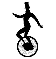 Silhouette equilibrist dressed in old vector
