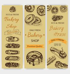 sketch bakery vintage card vector image