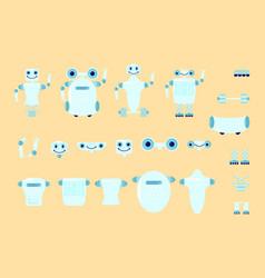 smart robot character creation vector image