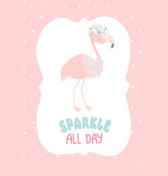 sparkle all day flat poster template vector image