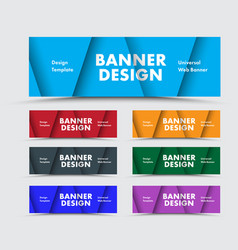 templates horizontal multicolored web banners vector image