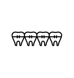 tooth braces icon vector image
