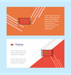 Video abstract corporate business banner template vector