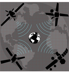 wireless satellite vector image