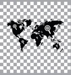 Worldwide searching around world vector