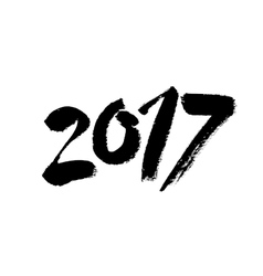 2017 Hand drawn lettering vector image