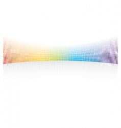 color spectrum dots vector image