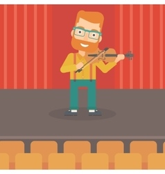 Man playing violin vector image vector image