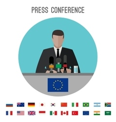 Press conference icon vector image