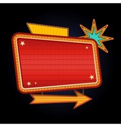 Retro motel sign with copyspace vector image