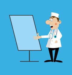 a medical doctor flipchart vector image vector image
