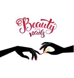 beautiful manicure vector image vector image