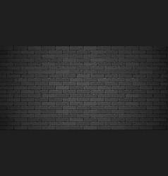 black brick wall texture vector image vector image