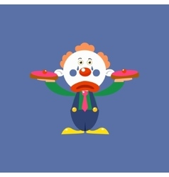 Clown with pies vector