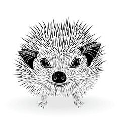 hedgehog head animal for t-shirt vector image vector image