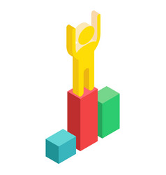 isometric winner on white vector image vector image