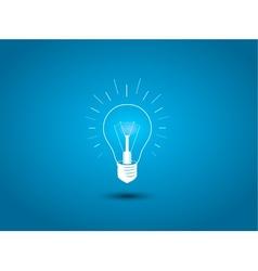Light bulb idea icon on blue background vector image