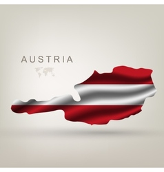 flag of Austria as the country vector image vector image