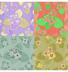 floral combinations seamless vector image