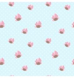 kawaii cupcakes seamless pattern Pink and vector image