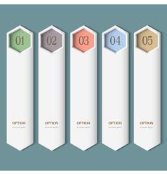 Vertical trendy Design template vector image vector image