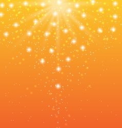 abstract orange background with sun rays and shiny vector image vector image