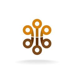 Abstract tech logo vector image vector image