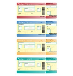 airline ticket 05 vector image vector image