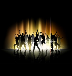 Dance and Light Show vector image vector image