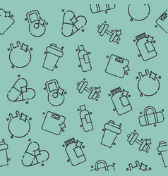 Gym concept icons pattern vector