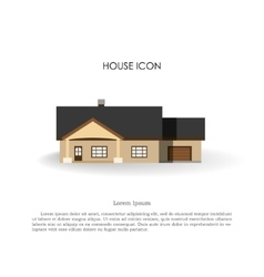 House icon in flat style on white background vector image vector image