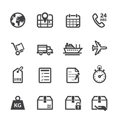 Logistics and Shipping Icons vector image vector image