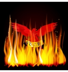 red eagle fire vector image vector image