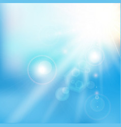spring summer sunlight flare abstract blue sky vector image vector image