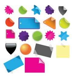 tags badges and stickies vector image vector image
