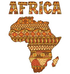 Africa Map Pattern vector image