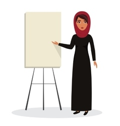 Arab business woman teacher profession Muslim vector image